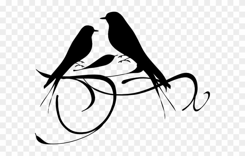 Birds On A Branch Clip Art - Clip Art Love Birds #29956