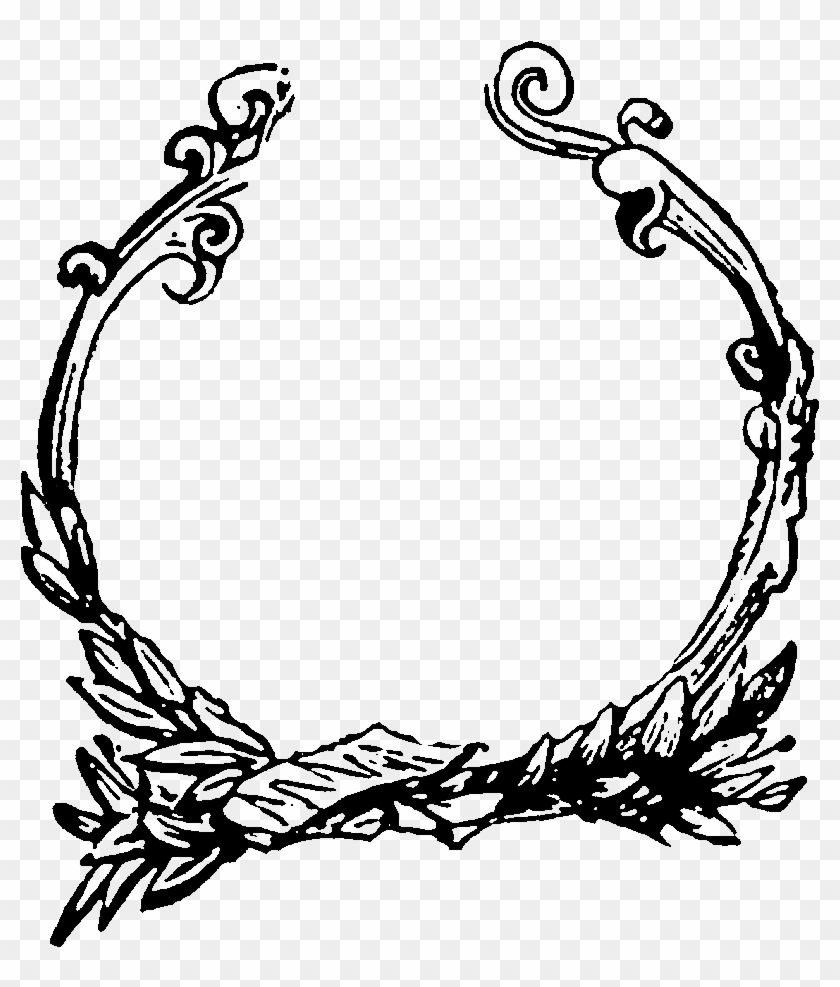 Digital Decorative Circle Frame Image Downloads - Christmas Trees To Draw #29983