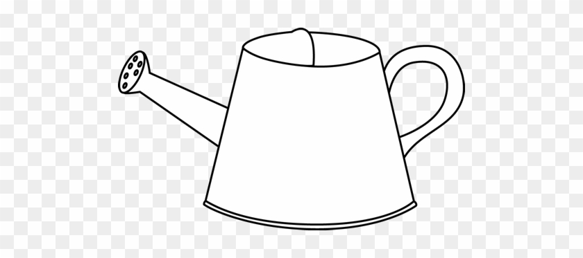 Black And White Watering Can - Clip Art #29994