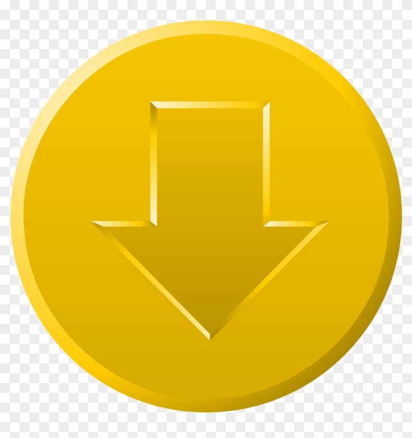 This Free Clip Arts Design Of Golden Download Button - Download #30016