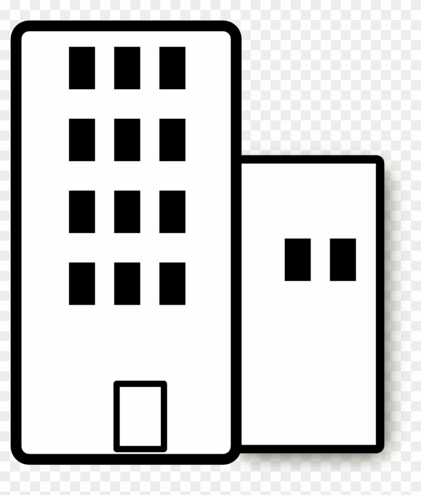 Apartment Cliparts - Apartment Clipart Black And White #30023