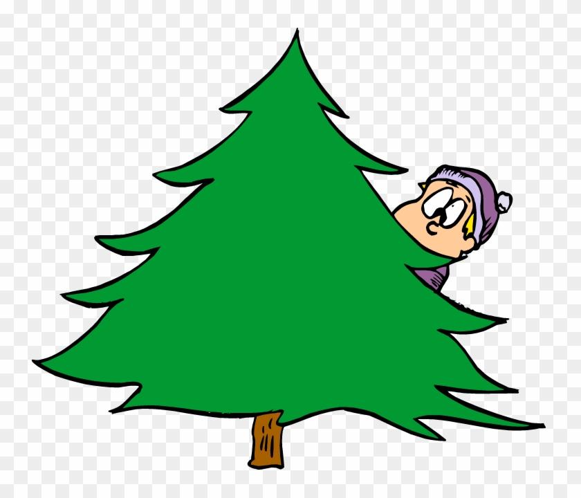 Fun In Marriage - Behind The Tree Cartoon #30075