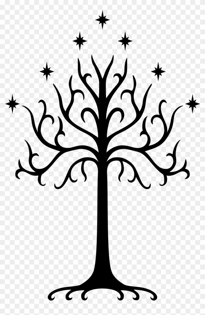 Black And White Tree Clipart - Lord Of The Rings Tree #30077