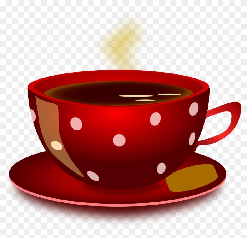 Cup Of Tea Clipart, Vector Clip Art Online, Royalty - Red Cup Of Tea #30098
