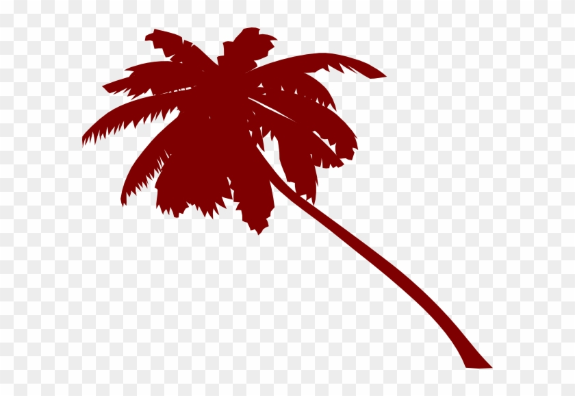 Slanted Vector Palm Tree Clip Art - Palm Tree Clip Art #30099