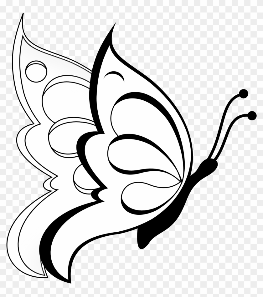 Butterfly Drawing For Kids #30173