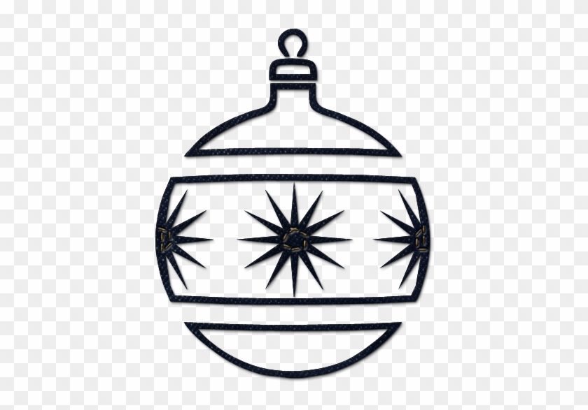Christmas Tree Ornaments Clipart - Black And White Ornament #30190 - Christmas Tree Ornaments Clipart - Black And White Ornament - Free