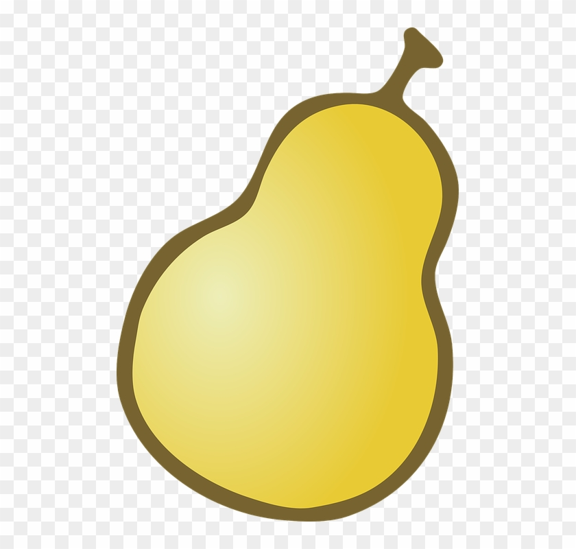 Fruit, Outline, Cartoon, Free, Pear, Fruits - Pear Clipart Free #30260