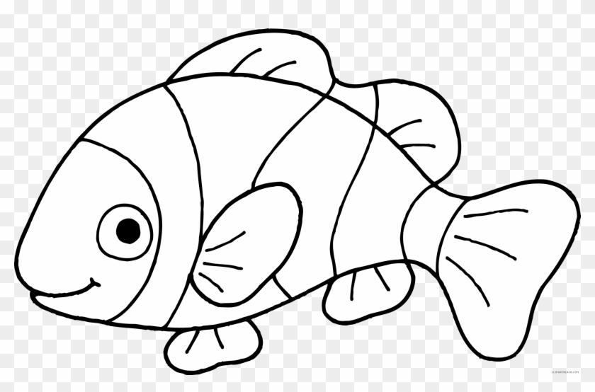Fish Clip Art Free Black And White - Fish Black And White #30343