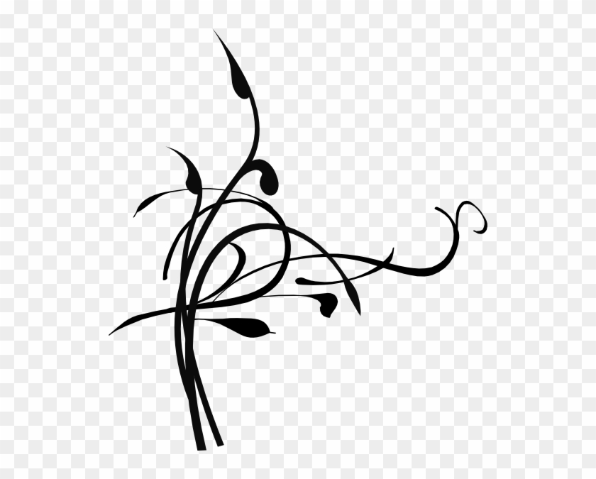 Black Birds On A Branch Clip Art - Black And White Png Leafs Branchs #30413