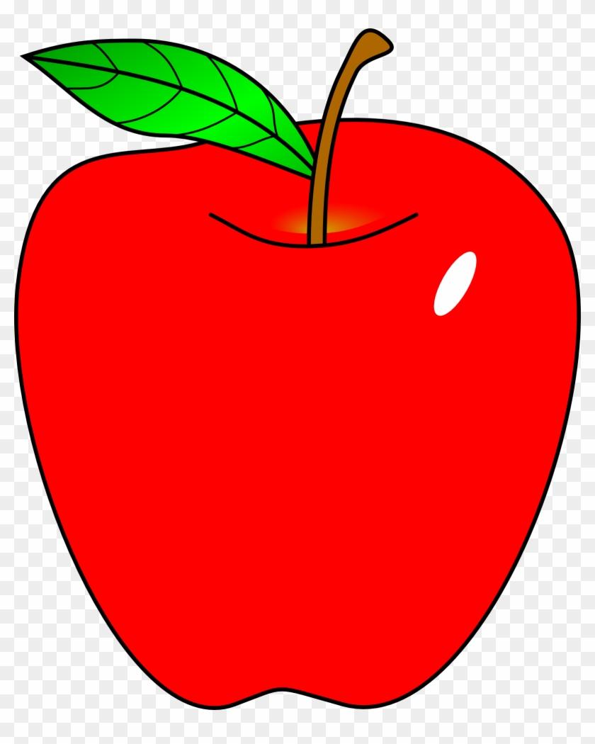 Cartoon Apple - Apple Clipart #30439