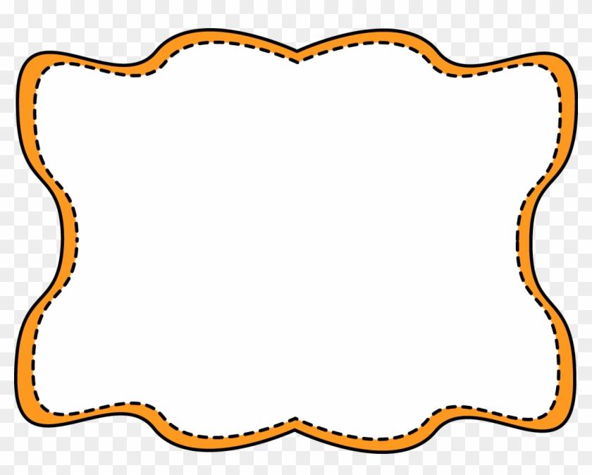 Orange Wavy Stitched Frame - Yellow And Black Frames #30447