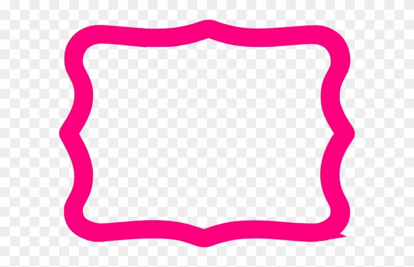 Hot Pink Frame Clip Art - Clip Art #30465