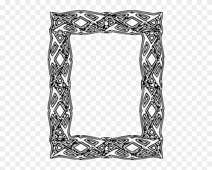 Free Vector Frame Outline Clip Art - Frame Outline #30468
