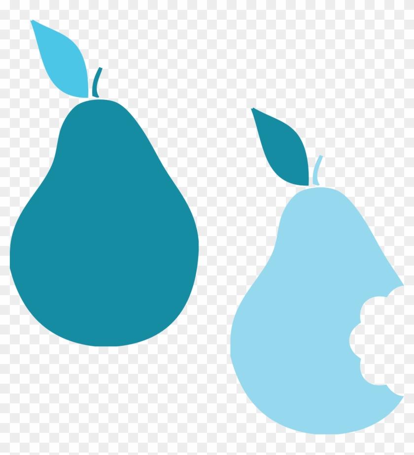 Blue Pear Clip Art #30496