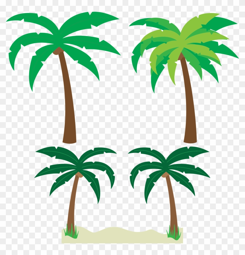 Palm Trees - Tropical Palm Trees Cartoon #30539