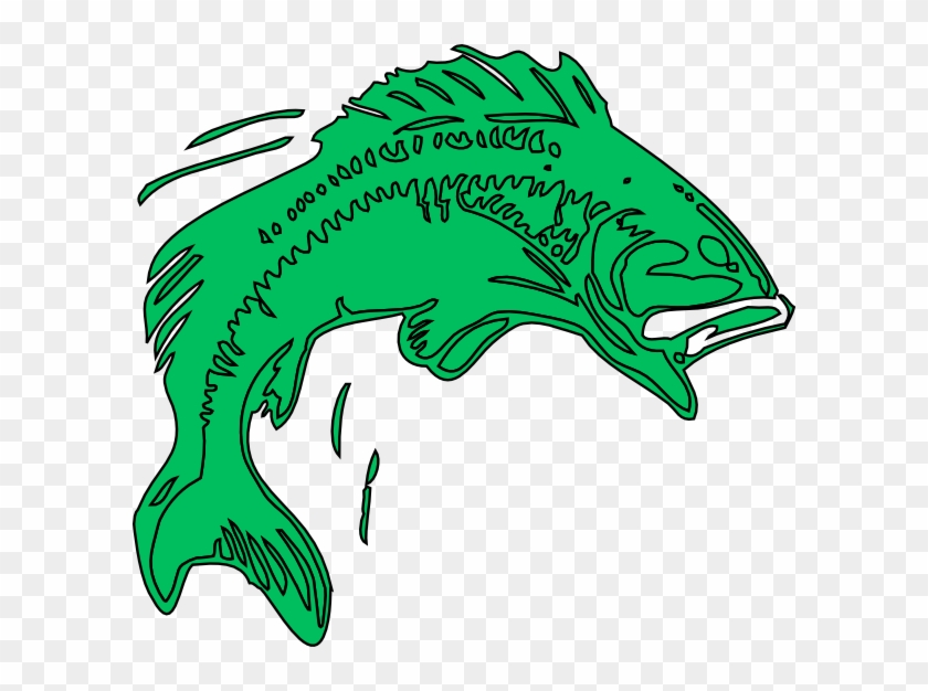 Bass Fish Clipart - Cartoon Bass Fish Png #30532