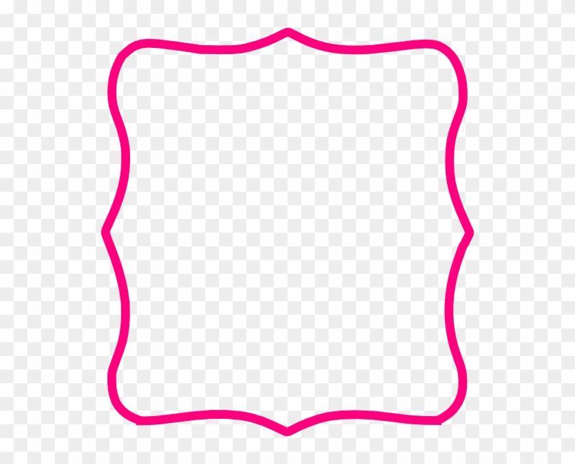 Hot Pink Frame Clip Art - Pink Clip Art Frame #30555