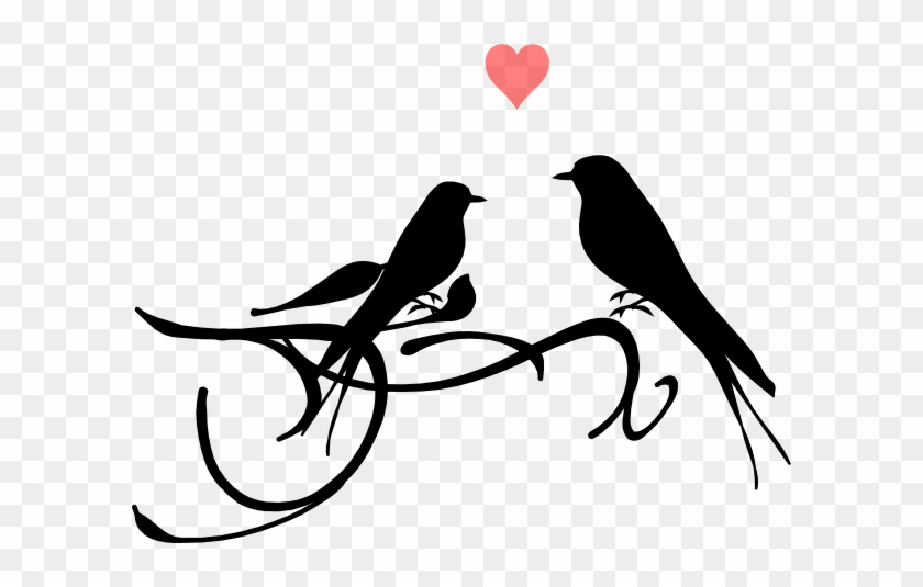 Love Birds Clip Art - Bird Black And White #30567