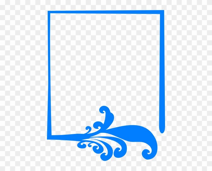 Blue Artistic Frame Png Clip Art - Blue Vector Frame Png #30581