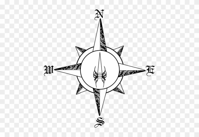 47 Editable Clip Art Free Compass Public Domain Vectors - Compass Rose Drawing Png #30646