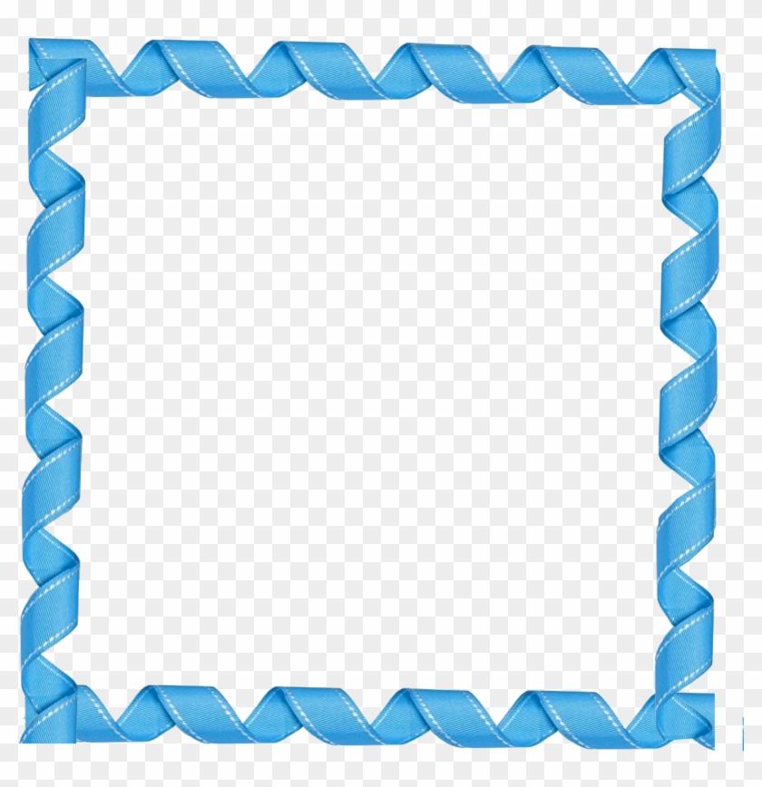 Picture Frames Blue Clip Art - Blue Frame Png #30650