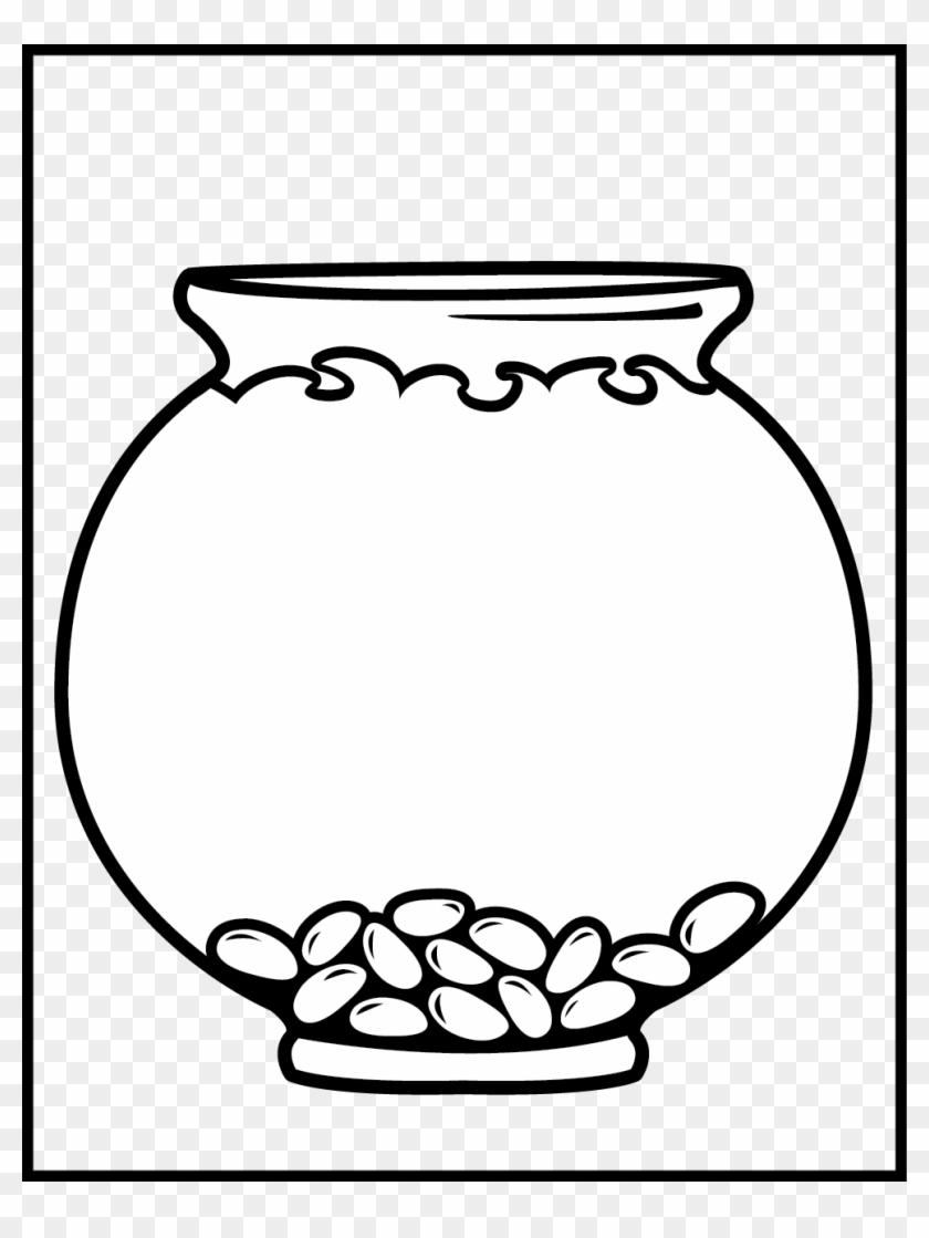 Fish Clip Art Black And White Fish Bowl Clip Art Black - Fish Tank Coloring #30651