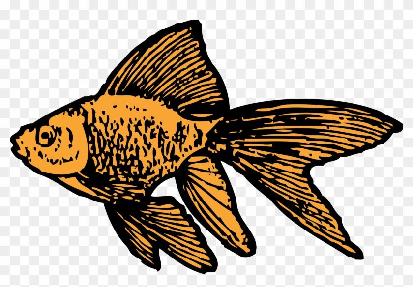 Gold Fish Clip Art Black And White - Goldfish Clip Art #30657