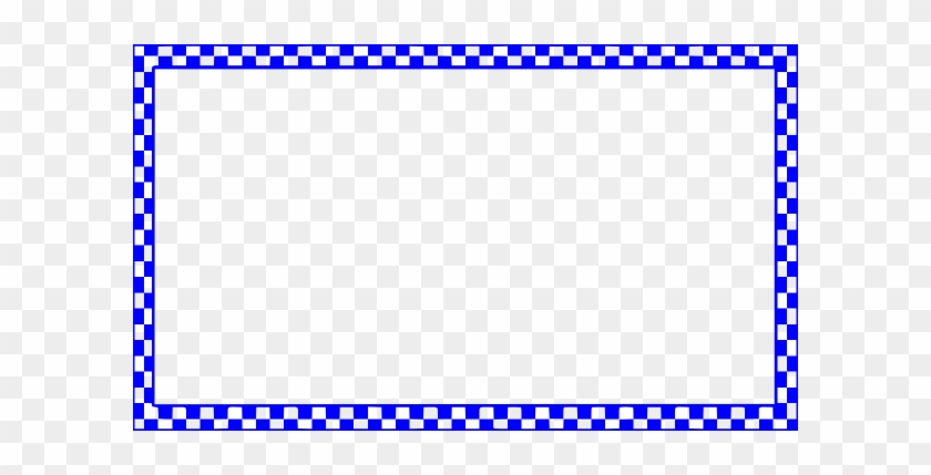 Blue Checkered Border Clip Art At Clker - Cars 3 Background Png #30659