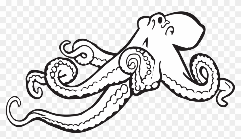 Octopus Clipart Illustrations 2 Octopus Clip Art Vector - Octopus Black And White #30694
