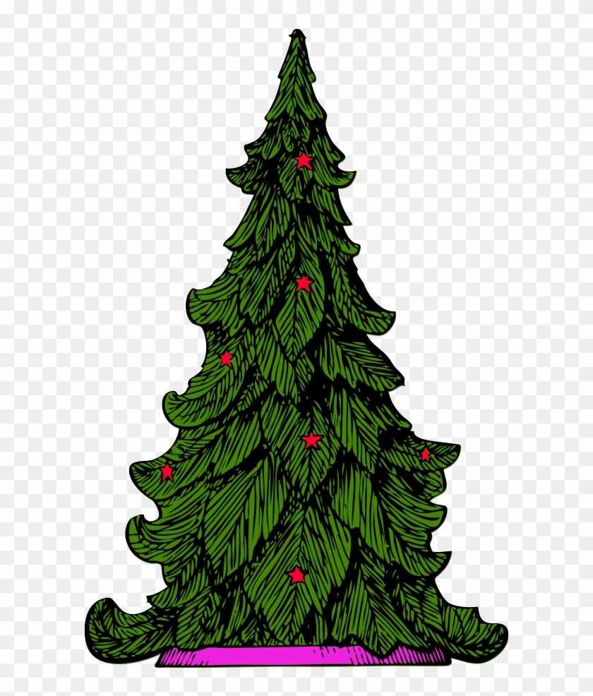 Vector Clip Art - Christmas Tree Clip Art #30723