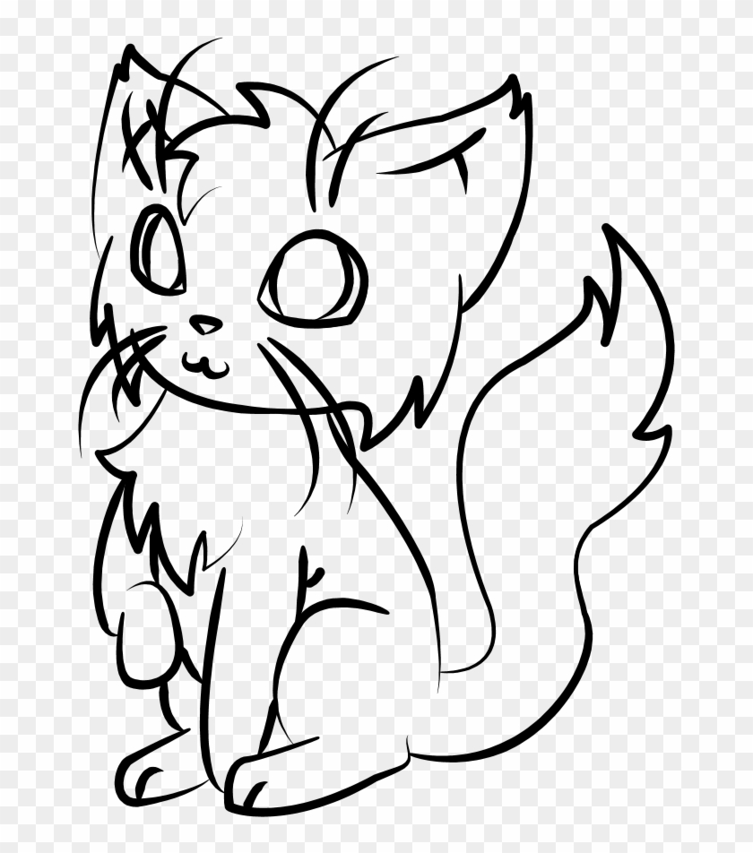 Cat Line Drawing - Animated Cat Profile #30742