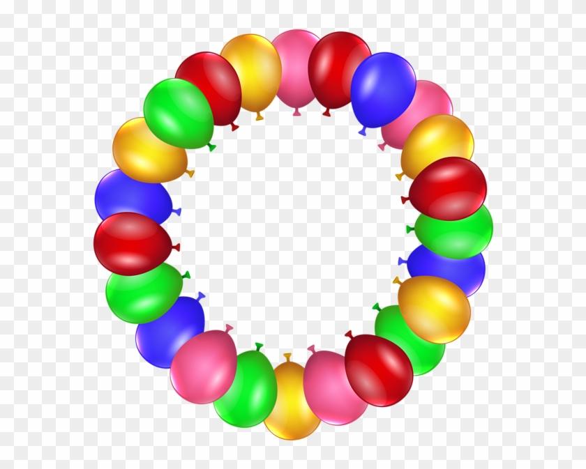 Balloon Border Frame Png Clip Art - Circle Birthday Frame Png #30744