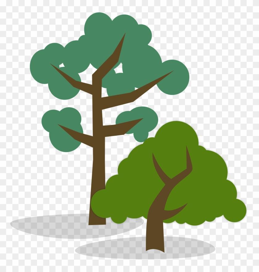 And Short Tree Clipart - Tall Tree Short Tree #30756