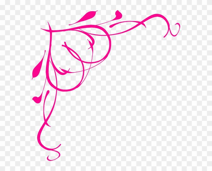 Hot Pink Heart Border Clip Art At Clker - Art Love Png #30778