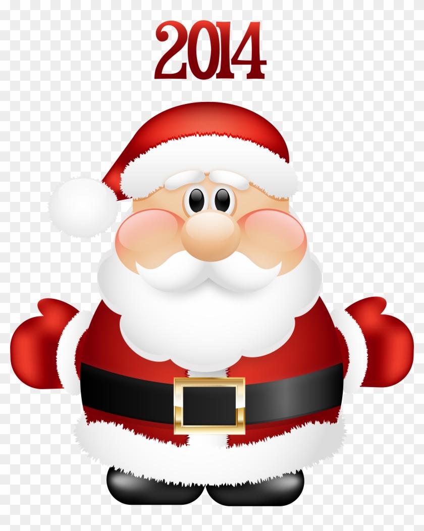 Transparent Cute Santa Claus 2014 Png Clipart - Cute Santa Claus Png #30878