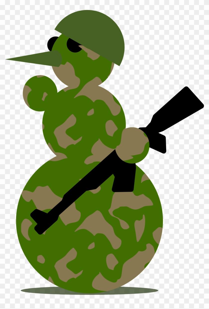 Snowman Militarist By Rones - Military Snowman #30945