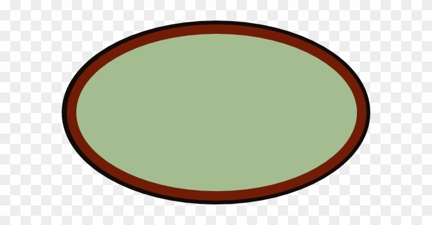 Brown Oval Frame Clipart - Circle #30960