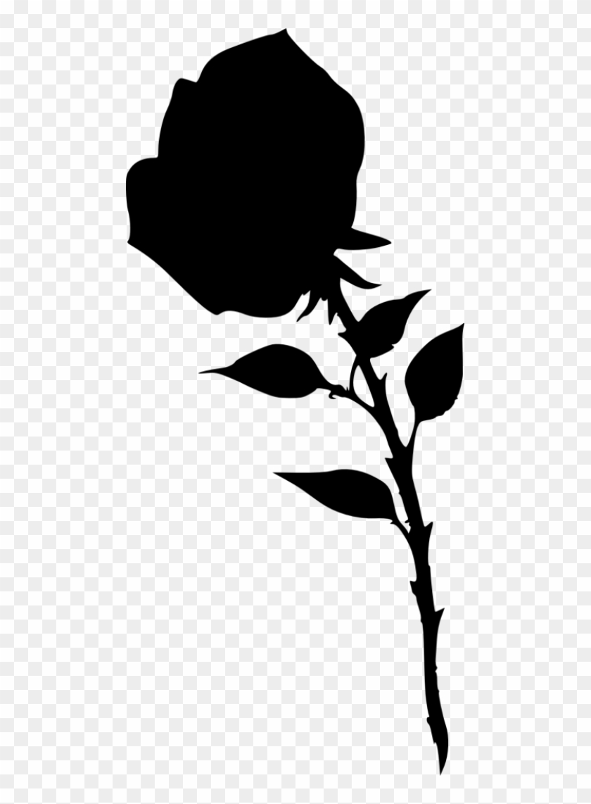 Free Png Rose Silhouette Png Images Transparent - Portable Network Graphics #30970