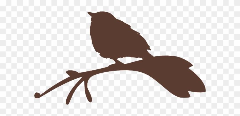 Bird On A Branch Silhouette Clip Art - Clip Art #30972