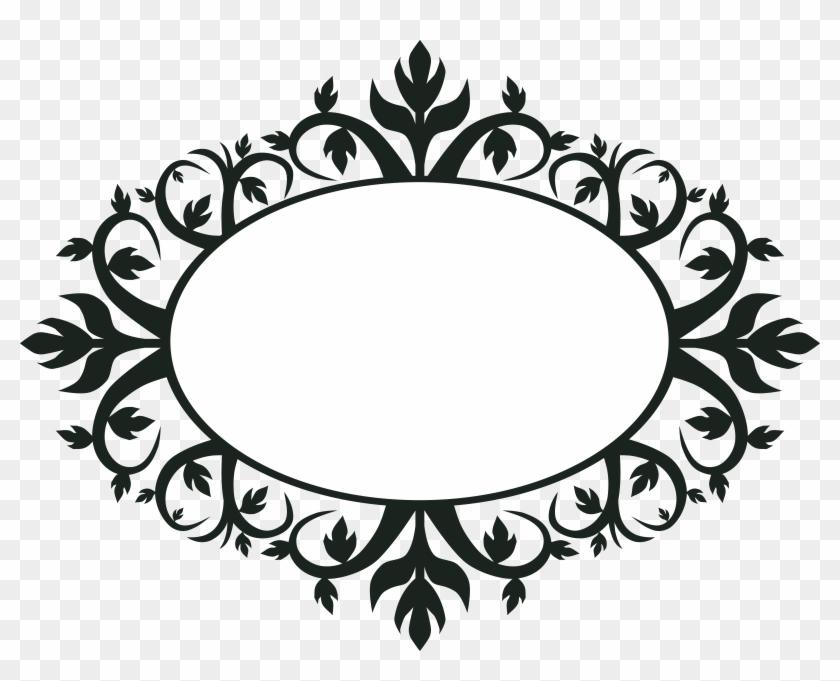 Vintage Shape Cliparts - Ornamental Oval Frames - Free Transparent ...