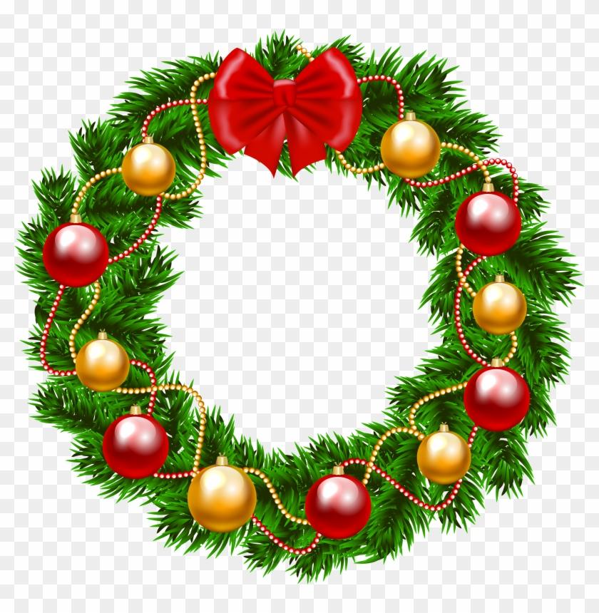 Christmas Clip Art Wreath Clipart - Christmas Wreath Png Clipart #31037