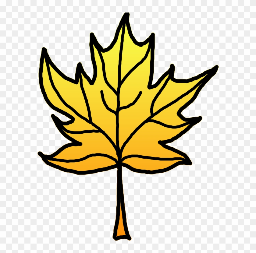 Leaves Clipart Yellow Leaf - Drawing #31093