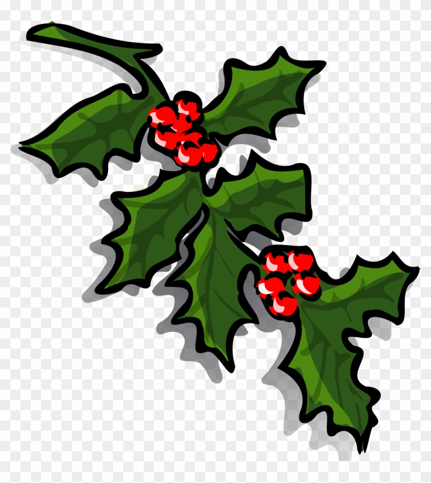 Xmas Stuff For Christmas Bells And Holly Clipart - Holly Branch Clip Art #31117