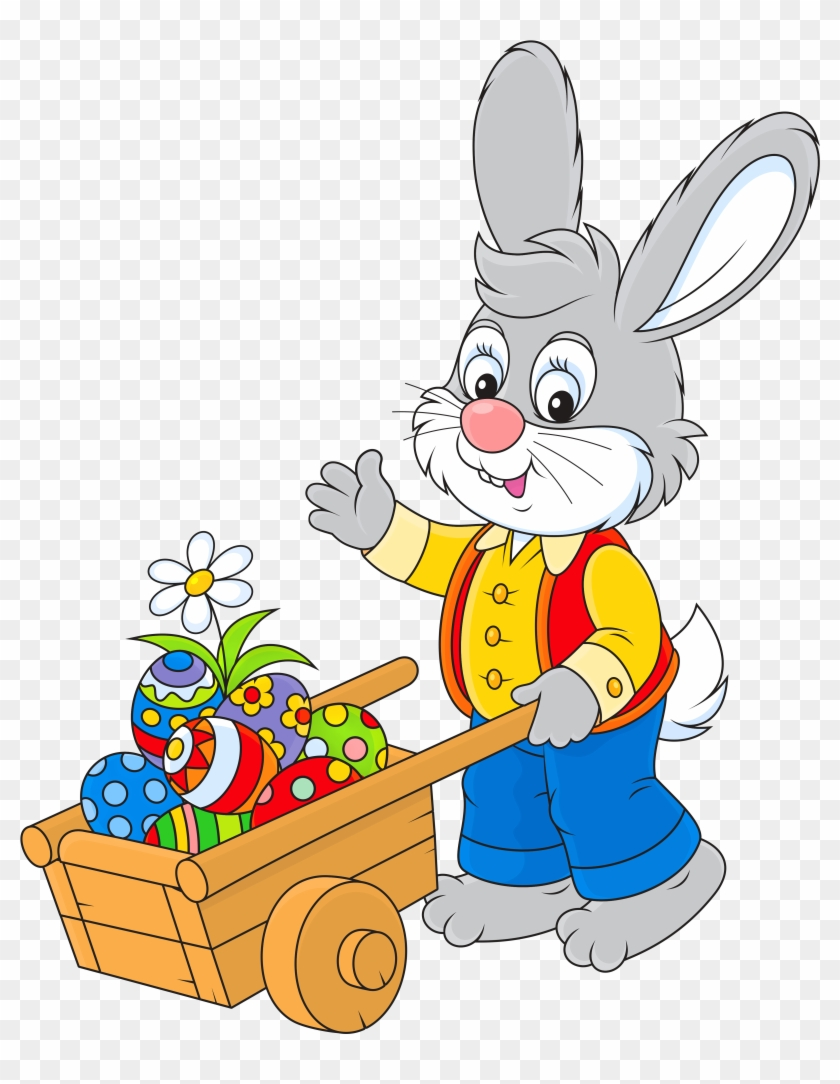 Easter Bunny With Egg Cart Png Pictureu200b Gallery Topo De Bolo