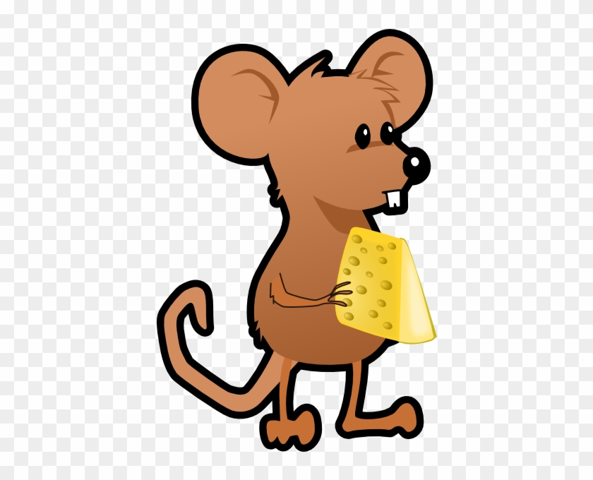 Mice Clipart Cartoon - Cartoon Mouse And Cheese #31157