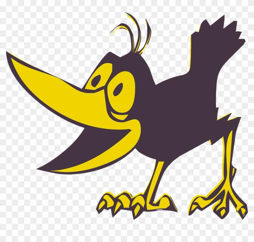 Funny Bird Cartoon Animal Cute Birds Vector - Crow #31163