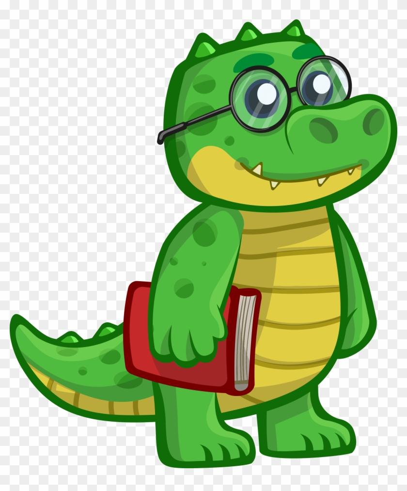 Free To Use & Public Domain Clip Art - Cute Cartoon Crocodile #31222