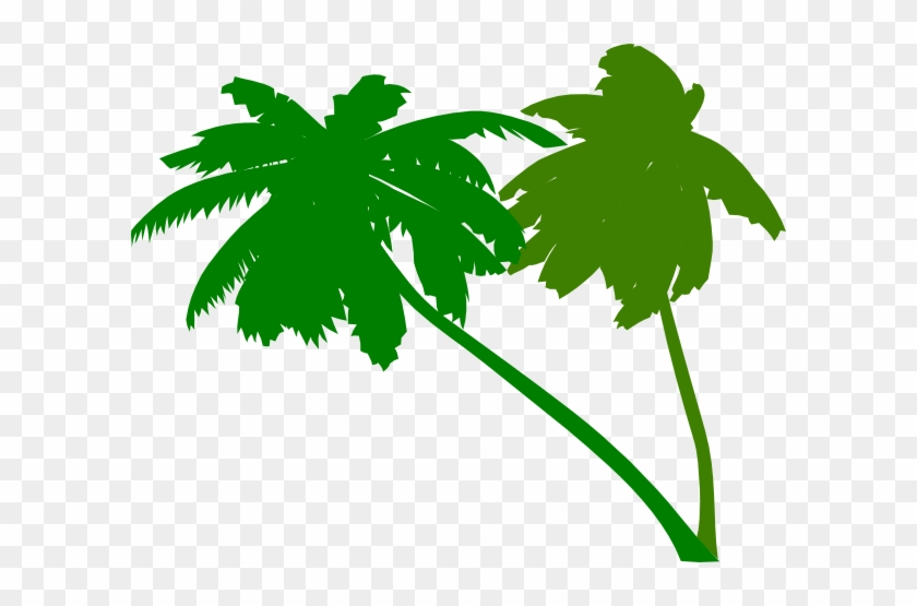 Vector Palm Trees Clip Art At Clker - Green Palm Tree Vector #31221