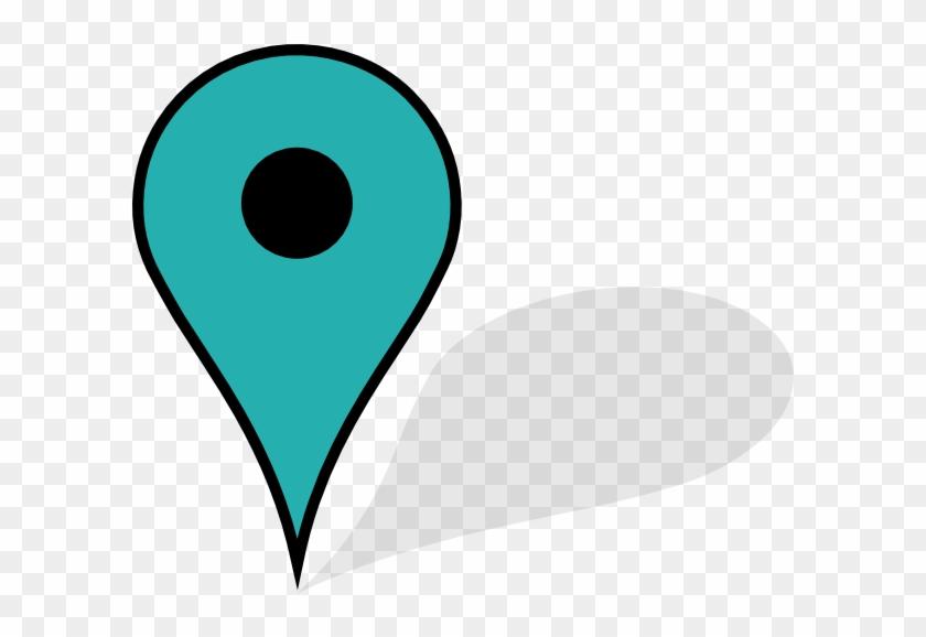 Blue Pin Clip Art At Clker - Dropped Pin #31230